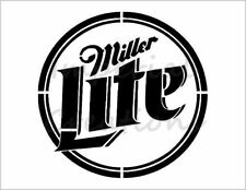 """MILLER LITE"" Beer Alcohol Drink Logo 8.5"" x 11"" Stencil Plastic Sheet NEW S265"