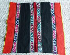 Q'ero Andean Mountain Textile - Peruvian Aguayo Table Cloth