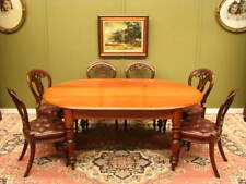 ANTIQUE COLONIAL CEDAR DINING / KITCHEN / BREAKFAST TABLE. LOVELY GRAIN, SEATS 8