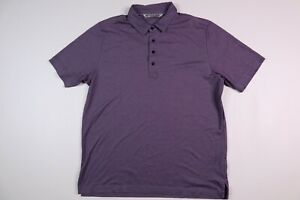 Travis Mathew Golf Polo Shirt Pima Cotton Blend Purple Men's Large
