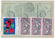 FRANCE  TIMBRE  ORDRE DE REEXPEDITION  SAINT MAUR POUR ST MAUR 1976