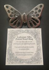 Pewter Butterfly Scarf Ring by Ladycrow Silks. Fantastic condition from Scotland
