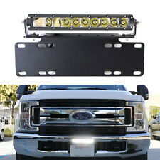 50W CREE LED Lightbar w/License Plate Mount Bracket Wiring 4 All Truck SUV Jeep