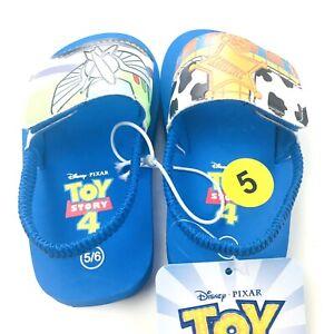 Disney Toddler Blue Woody Buzz Lightyear Print Toy Story Sling Back Slides 5/6C