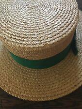 Vintage Ridgemonk English Regatta Straw Hat 1920's
