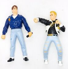"1990 Lot of 2 New Kids On The Block 5"" Poseable Figures Nkotb, used"