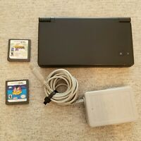 Black Nintendo DSi Handheld Game Console w/ 2 Games and Charger