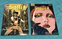 Shatter Issues 1&2 First Comics 1985 Mac Computerized VF NM