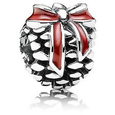 New Authentic Pandora Charm Christmas gift bag Pine Cone 791237EN39 Box Included