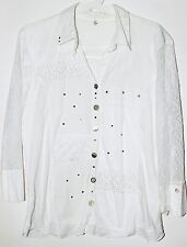BOTTEGA ELISA CAVALETTI Button Down Evening Blouse Shirt White Color Sz M/L