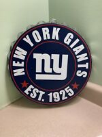 FOREVER COLLECTIBLES NEW YORK GIANTS Bottle Cap Wall Sign - NFL