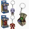 Funko Pocket Pop Keychain ,Hulkbuster,Thanos, Groot,Vinyl Figure Keyring Gift US
