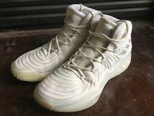Adidas crazy explosive basketball shoes triple white size 13