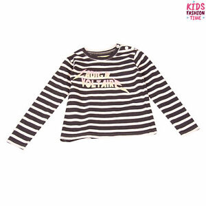 ZADIG & VOLTAIRE T-Shirt Top Size 8Y Striped Glitter Logo