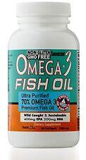 Omega 3 Fish Oil pills-ULTRA POTENCY FOR.-1000 mg EPA 400mg,DHA 200mg-60 softgel