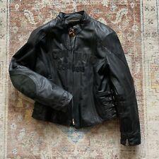 Icon Bombshell Jacket Coat - Motorcycle Womens Black Leather L