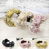 Elegant Women's Headband Hairband Knot Lace Floral Hair Bands Hair Accessories