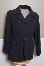 NICE ESPRIT Double Breasted Grey Pea Coat Lined Size Large