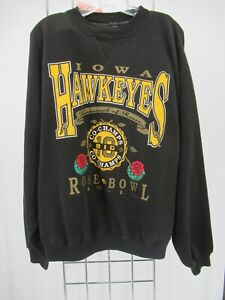 K0454 VTG Iowa Hawkeyes 1991 Crewneck Pull-Over Sweatshirt Size XL