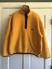 Woolrich Yellow Black Snap T Fleece Pullover Jacket Polartec Mens Large