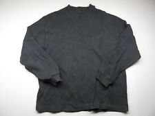 COACH Grey Crew Neck Sweater Made in Italy Adult Men's Size Small 100% Cotton