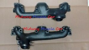 NEW STANDARD exhaust manifolds pair 64-68 Pontiac GTO LeMans Tempest