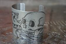 "tattooed * Armband / Armreif * Edelstahl steel 2,0""x5,5"" * Totenkopf Skull"