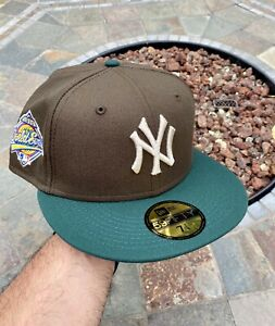 New Era New York Yankees Brown Size 7 1/4 World Series Not Hat Club Fitted 2Tone