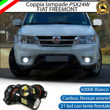 COPPIA LAMPADE FENDINEBBIA PSX24W 21 LED CANBUS FIAT FREEMONT 6000K
