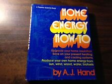 Home Energy How-To by A.J. Hand Hardcover w/ Dust Jacket