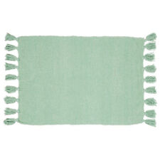 Tappeto verde 100% cotone rettangolare arredo bagno 60x90 cm Fortaleza