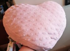 21x18 Pink Heart Shaped Accent Pillow Girls Room Decor Plush Soft