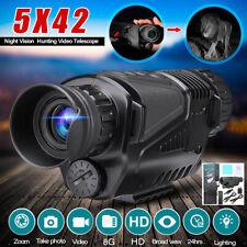 5x40 Zoom Video Recorder PRO Infrared IR Night Vision Monocular 8GB Camera DVR