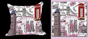 Cushion cover London England  Pillow Case  Christmas Gift Home Decor