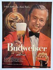 1958 Budweiser Beer Wall Art Vintage Print Ad