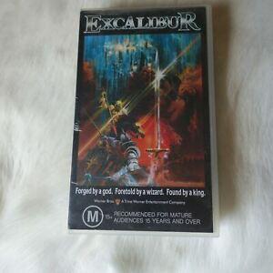 EXCALIBUR VHS 1994 Nigel Terry Helen Mirren Nicholas Clay Cherie Lunghi Wizard