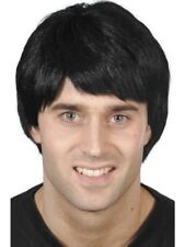 Black Short Guy Wig Adult Mens Smiffys Fancy Dress Costume