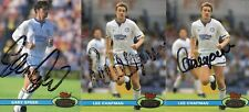 Leeds United Autographs, Speed, Chapman x2, Collector Cards