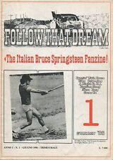 BRUCE SPRINGSTEEN Follow That Dream Italian fanzine # 1