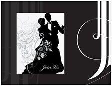 20  WEDDING BRIDAL SHOWER Invitations Silhouette FORMAL  CARDS Envelopes & Seals