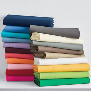 1000 Thread Count Egyptian Cotton Full Extra Long Size Linen Bedding Solid Color