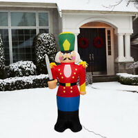 6Ft Christmas Inflatable LED Lighted Jumbo Toy Soldier Nutcracker Holiday Decor