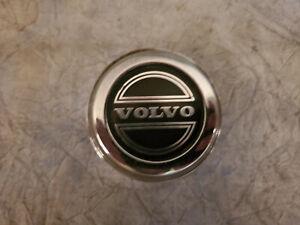 1 OEM Volvo CHROME W/ BLACK EMBLEM Wheel Center Hub cap 2-3/8''