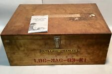 vintage empty wooden toolbox + manual GREENLEE tools Co USA