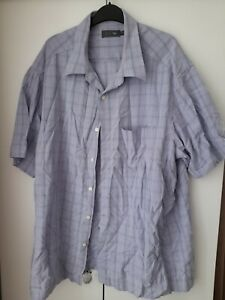 MENS MARKS AND SPENCER M&S Sp CHECK SHORT SLEEVE SHIRT XXL 2XL