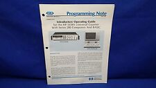 HP 5334A COUNTER INTRODUCTORY OPERATING GUIDE PROGRAMMING NOTE MAY 1984