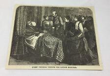 1877 magazine engraving ~ QUEEN VICTORIA, London Hospital