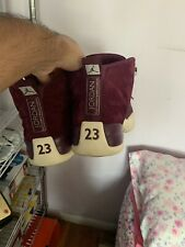 Burgundy 12s jordans Size 8