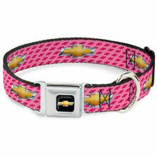 Dog Collar Seat Belt Licensed Chevrolet Chevy Bowtie Pink WCH010