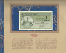 Most Treasured Banknotes Suriname 1986 1 Gulden P-116i UNC